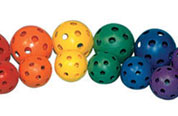 Colored Wiffle Balls - 12""